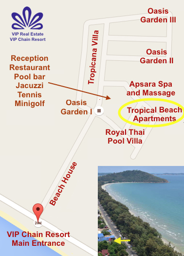 VIP Chain Resort Map RAW TROPICAL BEACH